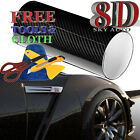 8d Shinny Glossy Carbon Fiber Vinyl Wrap Sheet With Air Release