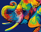 Elephant Animals Paint By Number Kit Diy Acrylic Oil Painting Home Wall Decor