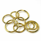 Solid Brass Split Rings Double Loop Key Ring 20 25 30mm Leather Craft Hardware
