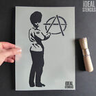 Banksy Anarchy Guard Stencil Home Decor Graffiti Art Craft - Ideal Stencils Ltd
