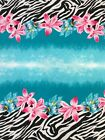 Polyester Bulgari 2 Side Border Light Weight Ombre Floral Zebra Design Fabric