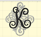 Monogram Letter Embroidered Iron On Patch