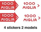1000 Miglia Mille Sticker Vintage Race Ford Classic Car Sticker Oldsmobile Decal
