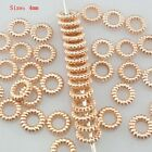 Wholesale Mixed Size Styles Rose Gold Charm Loose Spacer Beads Jewelry Findings