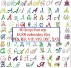 15000 Embroidery Files 100 Script Font Sets On Usb