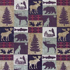 12x12 Swatch Upholstery Fabrics Mountain Lodge Cabin Rustic Bear Tapestry Sample