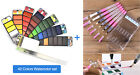 Portable Whirl Solid Watercolor Pigment Paint Set With Water Brush Bright Color