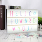 A4 Cinematic Light Up Sign Box Cinema Led Letter Lamp Home Party Wedding Decor.