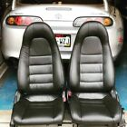 1997-1998 Toyota Supra Mk4 Mkiv Black Replacement Leather Seat Cover