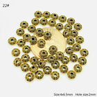 50pcs Tibetan Silver Metal Alloy Charms Loose Spacer Beads Jewelry Making Diy