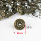 17mm20mm No-sew Replacement Metal Studs Denim Jeans Buttons Hammer On Buttons