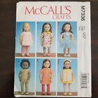 Mccalls Crafts Pattern For 18 Inches Dollcraft Sewing Doll Clothes