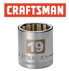 Craftsman Easy Read Socket 12 Or 38 Drive Shallow Or Deep Metric Mmsae Inch
