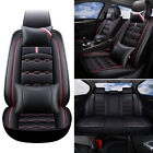 14pcs Car Seat Cover Protector Front Rear Full Set Pu Leather Interior Pro