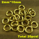 Solid Brass Jump Rings Connectors For Fob Bag Keychain Various Specifications