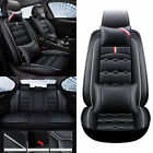Universal 5-seat Suv Car Seat Cover Protector Set Pu Leather Headests Cushions