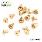 Metal Studs Punk Leathercraft Cone Screws Rivet Bullet Spikes Gold Or Silver 42