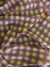 Polyester Chiffon With Small Plaid Print Fabric By The Yard