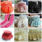 Amazing Ruffle Pleated Elastic Lace Price For 1 Yard Select Color