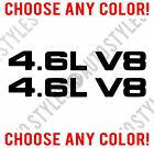 Fits 1999-09 Ford Mustang 4.6l V8 Hood Scoop Vinyl Decal Sticker Pair Any Color