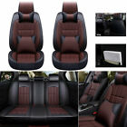 Car Seat Cover Full Set 5 Seats Luxury Pu Leather Headrests Interior Accessory