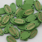 Diy Mixed Wood Shape Handmade 24 Holes Wooden Buttons Sewing Scrapbooking Lots