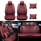 Fits For 4-door Toyota Tundra Truck Car Seat Cover Set Pu Leather 07-2019 5-seat