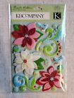 Pick 1 Kcompany Dimensional Scrapbook Stickers Travel Butterfly Floral Animal
