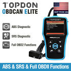 Auto Obd Code Reader Obd2 Scanner Car Abs Srs Engine Check Diagnostic Scan Tool