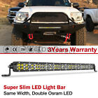 Cree Single Row Led Light Bar Super Slim Combo Off Road Driving 6 12 20 30
