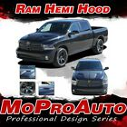 2009-2018 Dodge Ram Factory Style Hemi Hood 3m Pro Vinyl Graphics Decals Stripes