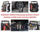 Portable Battery Jump Starter Air Compressor Peak Car Charger Booster 600-1200 A