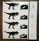 Jurassic T-rex Mini Dinosaur Jeep Vinyl Decal Sticker Window Windshield