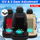 4 Fan Cooling Car Seat Cushion Cover Air Fan Ventilated Conditioned Cooler Pad