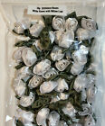50 Satin Ribbon Roses 34 Applique Sewing Bow Craft Choose Your Color