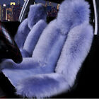 2pcs Genuine Australian Sheepskin Fur Long Wool Car Front Seat Cover Warm Winter