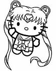Vinyl Decal Car Sticker- Hello Kitty Sailor Moon Pick Size And Color