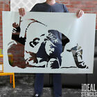 Banksy Stencils Snorting Cocaine Cop Graffiti Life Size Wall Painting Stencil