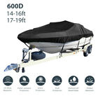 Heavy Duty 600d Marine Grade Waterproof Boat Cover Fit V-hull Tri-hull Runabout