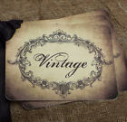 Hang Tags Aged Vintage Script Tags Or Magnet 245 Gift Tags