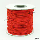 1mm Nylon Coated Round Elastic Cord Stretch Beading Mala String - Choose Color