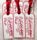 Hang Tags Vintage Style Candy Cane Word Art Christmas Tags 559 Gift Tags