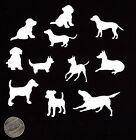 Dog Die Cuts - Set Of 22 Mini Dog Die Cuts - 1 To 2 Sizes - You Choose Color