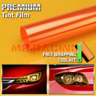 13 Colors Premium Glossy Headlight Taillight Fog Light Vinyl Sticker Tint Film
