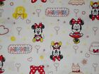 Disney Baby Minnie Mouse On White Quilting Fabric Camelot 100 Cotton Fq Bty