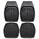 Car Floor Mats Heavy Duty Deep Dish Rubber 4pc All Weather Truck Universal Fit