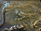 Antique Chinese Export Cigarette Case With Dragon Sterling Silver 122 6g