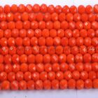 100 Quality Czech Crystal Faceted Rondelle Loose Spacer Beads 4mm 6mm 8mm 10mm