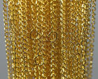 100pcs Gold Silver Plated Metal Chain Necklace Jewelry Finding Diy Making 18.9