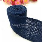 6cm2m Natural Color Diy Jute Hessian Burlap Ribbon Wedding Belt Strap Craft